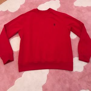 Authentic polo fleece lined crew neck